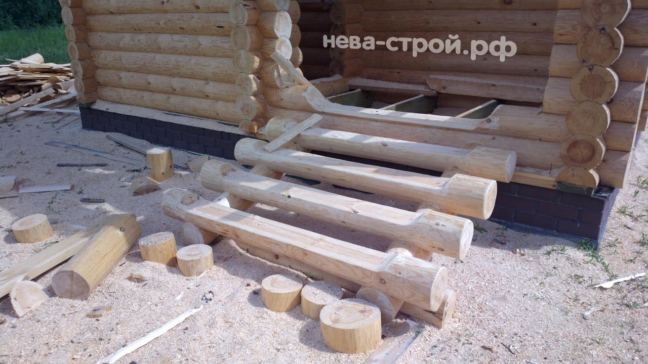 Как построить дом из брёвен своими руками + видео урок